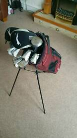 Full Set of golf clubs and stand bag