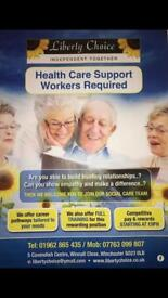 Health care support worker £9-14 per hour