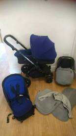 Ickle bubba stomp full travel system with accessories and carrycot