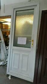 Upvc door with pattern glass