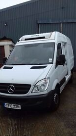 MERCEDES SPRINTER MWB FRIDGE VAN.2010. OVERNIGHT STANDBY.ONE OWNER