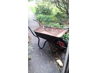 used metal wheelbarrow for sale collection only needs new wheel £10 ono