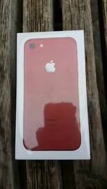 New iPhone 7 128 GB unlocked not activated yet red product limited edition