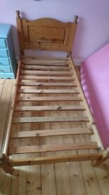Gorgeous Solid Old Pine Single Bed frame (with free Flexa Mattress if required)
