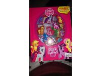 Brand new, My little pony stuck on stories,storybook with suction 10 toys.