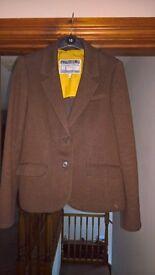 Joules Brown Tweed Effect Blazer