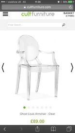 Philippe Starck / Kartell styled Ghost Louis Chair