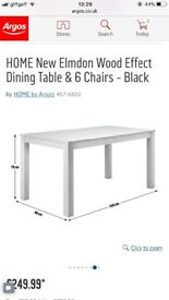Black dining table New from factory 🚚 small crack on side £70 ONO (RRP 249.99)