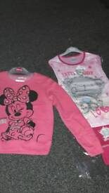 New minnie mouse sweatshirt & new me to you pj's