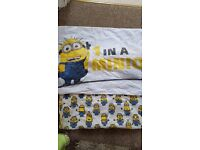 3 different duvet sets, minions, rockets and vehicles