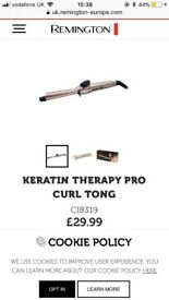 Remington keratin therapy curling tong
