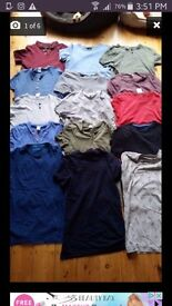 Bundle of 15 mens tshirts 12 extra small 3 small