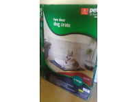 Pets at Home Double Door Dog Crate X Large Grey