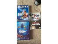Disney Finding Dory. Ice Age 4. Kung Fu Panda. DVDs New &sealed