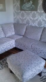 Harveys corner sofa with chair and footstool