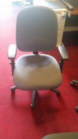 Grey Pledge Operators Chair