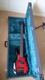 Westfield 5 sting bass guitar.