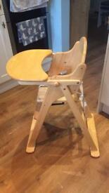 Mothercare Valencia wooden Highchair