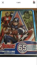 Marvel avengers large tin with 65 pieces