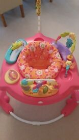 Immaculate pink petal jumperoo baby bouncer