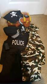 Dressing up set police army and pirate accessories