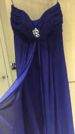 Gorgeous Royal Blue Size 14 Christmas Party /Occasion/evening Dress