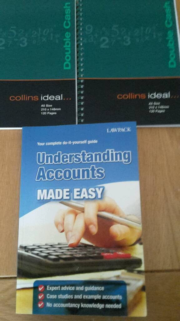 Accounts Made Easy Book and 2 X Collins Double Cash