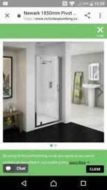 Ventura pivot shower door new