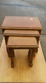 Nest of Three Coffee Tables - solid wood