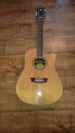 Washburn 12 string semi acoustic guitar