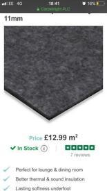 Carpet underlay 11mm luxury