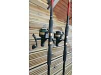 Carp rods+reels+ holders