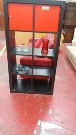 Black and red small wall unit