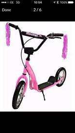 Rocket Xtreme Kids Retro BMX Stunt Scooter Pink ADJUSTABLE