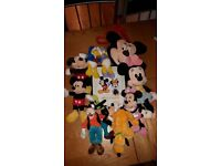 Mickey mouse and gang cuddle toys
