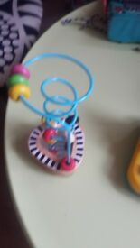2 TOYS- mothercare/ sassy high chair toys. Automatic light and suction below