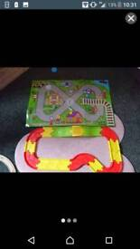 Kids car track with mat & a car
