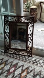 Brown bamboo effect mirror