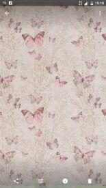 Dunelm butterfly matching curtains,blinds and pillows x4