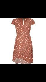 River Island Brown polka dot dress