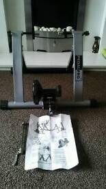 Indoor magnetic bike trainer