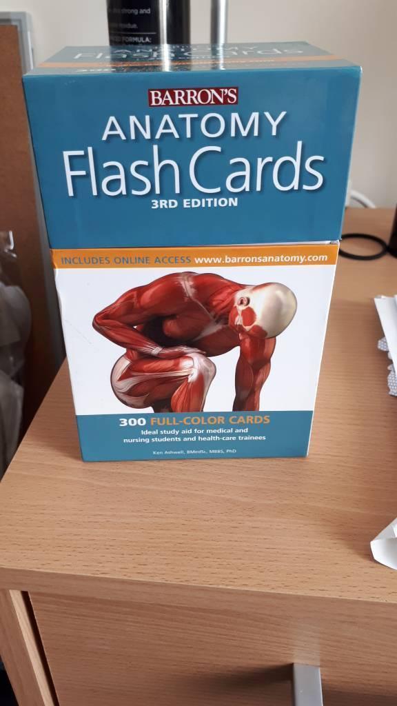 Anatomy flash cards   in Soham, Cambridgeshire   Gumtree