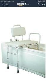 Home-craft padded bath transfer seat
