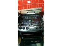Zanussi gas cooker 55cm new order in black