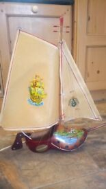 Ship Table Lamp made from Dutch Clog