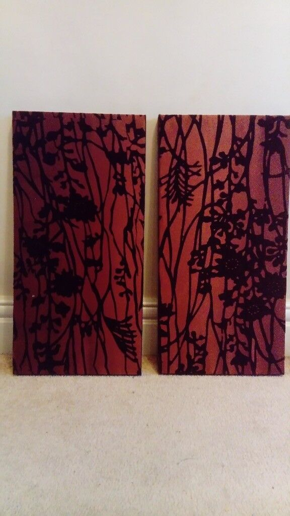 Set of 2 Abstract Branches on Canvas