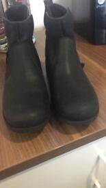 Black Leather Ugg Size 7.5 will fit size 6-6.5 due to lining.