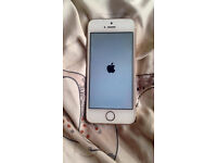 iphone 5s white and gold 16gb with box no scratches like new on 02 150.00
