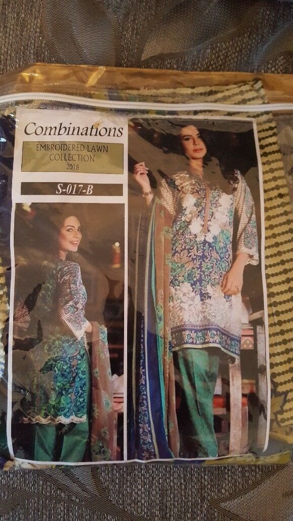 Unstitched embroidered lawn collection 2018