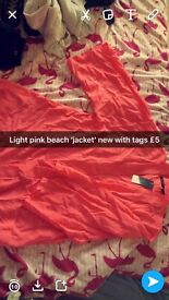 Pink beach top 'jacket' new